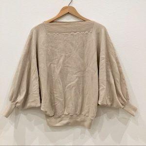 Trina Turk Merino Wool Dolman Sweater